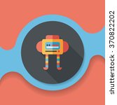 robot flat icon with long... | Shutterstock .eps vector #370822202