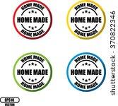 home made guarantee  button ... | Shutterstock .eps vector #370822346