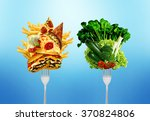 diet decision concept and... | Shutterstock . vector #370824806