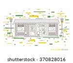 linear flat exterior  landscape ...   Shutterstock .eps vector #370828016