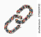 a large group of people in the... | Shutterstock .eps vector #370830932