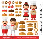 stylish set of characters and... | Shutterstock .eps vector #370837172