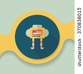 robot flat icon with long... | Shutterstock .eps vector #370838015