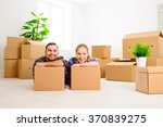 moving to a new apartment.... | Shutterstock . vector #370839275