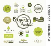 set of organic food labels and... | Shutterstock .eps vector #370850798