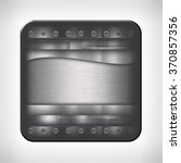 metal texture icon  button  on... | Shutterstock . vector #370857356