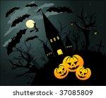 halloween illustration... | Shutterstock . vector #37085809