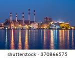 power station at night | Shutterstock . vector #370866575