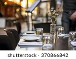 cafe table in laneway.  focus... | Shutterstock . vector #370866842