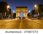 avenue des champs elysees in... | Shutterstock . vector #37087273