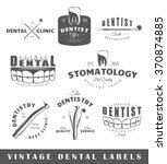 Set Of Dentist Labels. Elements ...