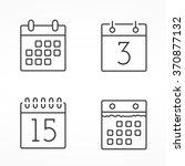 four calendar line icons ... | Shutterstock .eps vector #370877132