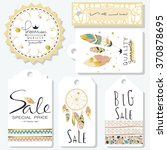 light green gold pink tag sale... | Shutterstock .eps vector #370878695