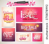 creative sale header or banner...   Shutterstock .eps vector #370878992
