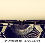 Close Up Image Of Typewriter...