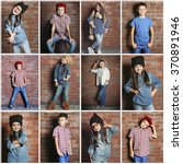 collage of little fashion kids...