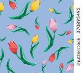 flower low poly concept... | Shutterstock . vector #370895492