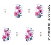 pattern with flowers.... | Shutterstock . vector #370896302