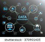 data management concept ... | Shutterstock .eps vector #370901435