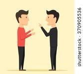 people swear. people accuse... | Shutterstock .eps vector #370905536