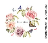 beautiful watercolor card with... | Shutterstock . vector #370906202