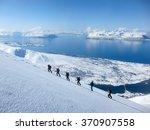 A Group Of People Randonee Ski...