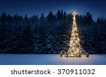 illuminated christmas tree in... | Shutterstock . vector #370911032