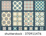 new collection of 8 azulejo... | Shutterstock .eps vector #370911476