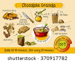 chocolate muesli  home cooking  ... | Shutterstock .eps vector #370917782