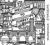 Vector Line Welcome To Turkey...