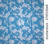 embossed flowers pattern  blue... | Shutterstock . vector #370923068
