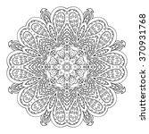 mandala doodle drawing. floral... | Shutterstock .eps vector #370931768