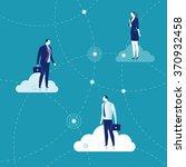 business network. business... | Shutterstock .eps vector #370932458