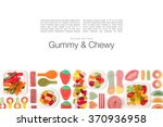 various jelly candies on white...   Shutterstock . vector #370936958