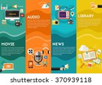 audio production and podcast  e ... | Shutterstock .eps vector #370939118