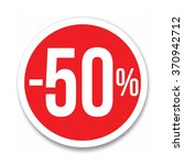 red circled discount   50   on... | Shutterstock .eps vector #370942712