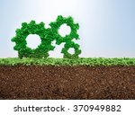 business growth concept with... | Shutterstock . vector #370949882