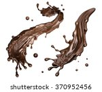 coffee or hot dark chocolate... | Shutterstock . vector #370952456