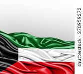 kuwait flag of silk with... | Shutterstock . vector #370959272