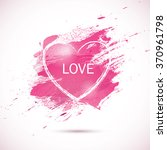 vector pink watercolor... | Shutterstock .eps vector #370961798