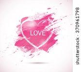 vector pink watercolor... | Shutterstock .eps vector #370961798