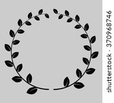 laurel wreath black | Shutterstock .eps vector #370968746