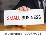 small business  message on... | Shutterstock . vector #370979735