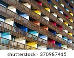 colored building. pattern... | Shutterstock . vector #370987415