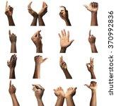 Set Of Male Hands Gestures ...