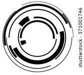 abstract hi tech segmented... | Shutterstock .eps vector #371001746