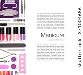 set of manicure and pedicure... | Shutterstock . vector #371004686
