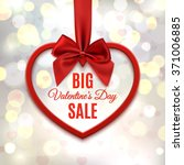 big valentines day sale  poster ... | Shutterstock . vector #371006885
