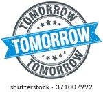 tomorrow blue round grunge...   Shutterstock .eps vector #371007992