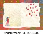 heart  greeting card.  colorful ... | Shutterstock . vector #371013638